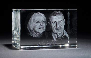 3d Crystal Couple Portrait