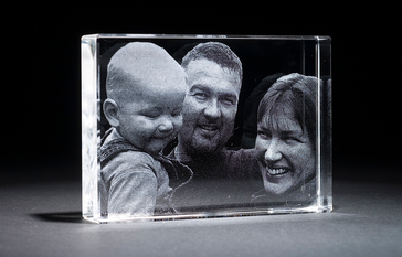 3d Crystal Family Portrait
